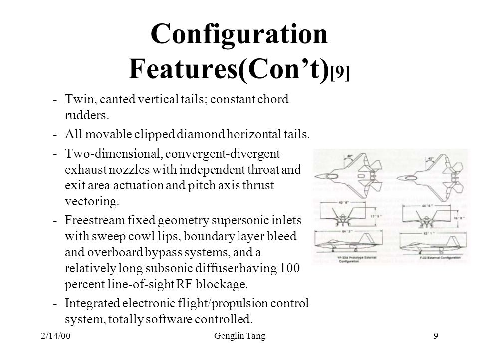Configuration Features(Con't)[9]